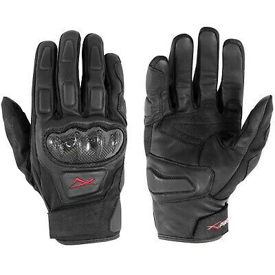 Sport Winter Armored Motorcycle Motorbike Leather Textile Touring Gloves