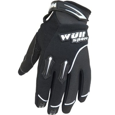 Wulfsport Stratos Motocross Motorcycle Quad Bike Off Road Enduro Adult Mx Gloves (Black, M)