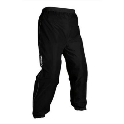 Oxford Rainseal Motorcycle Bike All Weather Over Trousers / Pants Black – Medium