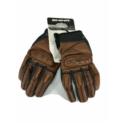 SHIMA Caliber Mens Leather Motorcycle Gloves – Brown /Size XL A-7.8-CG4