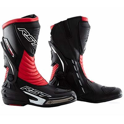 TRACK TECH RST Motorcycle Waterproof Red Boots Tractech Evo 3 III CE Enduro MX Quad Trail ATV MTB Bike Safety Shoes (UK 8/EU 42)