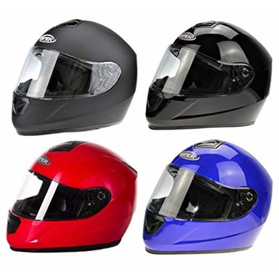 RS250 MOTORBIKE ADULT FULL FACE HELMET Motorcycle Men Women Moped Scooter Crash Rider Sports Racing Touring ACU ECE Approved Helmet (Blue,S (55-56 CM))