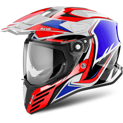 Helmet Airoh on-Off Commander Carbon Red Gloss Choice SIZE XS/ XXL