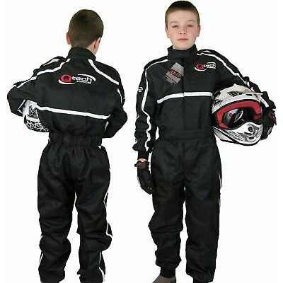 GO – Kart One Piece RACE SUIT Overalls Karting Quilted Polycotton – BLACK