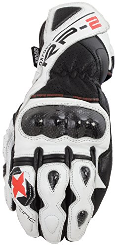 GM216XL – Oxford RP-2 Leather Motorcycle Gloves XL White Black