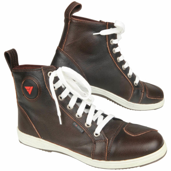 Modeka Lane Men's Motorcycle Boots Sneaker Leather – Braun