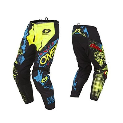 O'Neal   Motocross-Pants   MX Enduro Motorcycle   Breathable, ergonomically pre-Shaped Legs, Protection and Stretch Inserts   Element Pants Villain   Adult   Neon-Yellow   Size 28