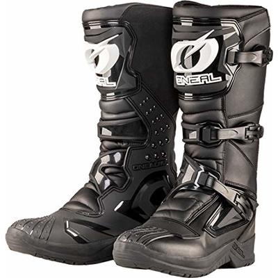 O'Neal | Motocross-Boots | Street Adventure Motorcycle Enduro | Inner Ankle, Foot and Shifting Zone Protection, Perforated Lining, Micro Fiber | Boots RSX | Adult | Black | Size 48