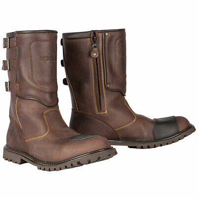 Spada Foundry Waterproof Touring Motorcycle Leather Boots – Brown