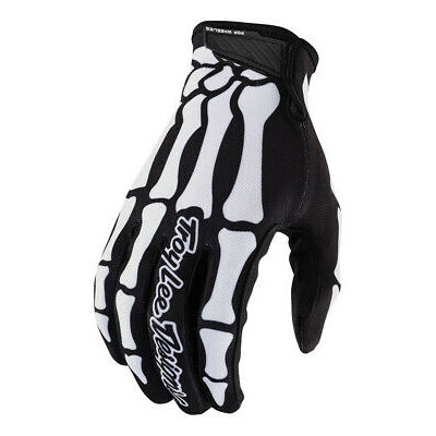 Troy Lee Designs Air Skully Black White Gloves size Youth Medium