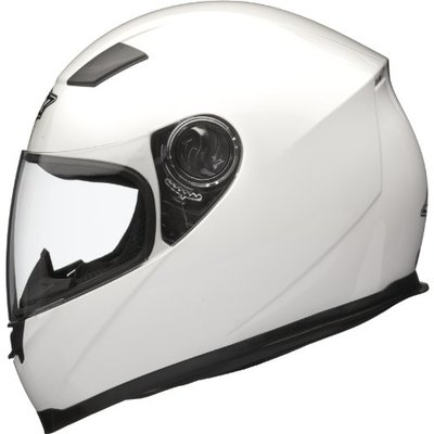 Shox Sniper Solid Motorcycle Helmet XL Gloss White