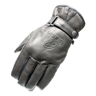 5099-0106 – Black Echo Leather Motorcycle Gloves L