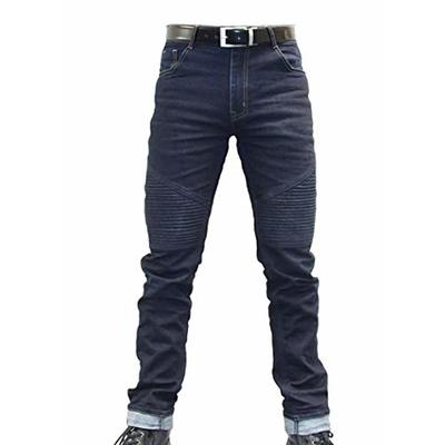 Bull-It Mens Bobber Tactical SP75 AA Skinny Motorcycle Denim Jeans with Armour – Blue (Reg 34)
