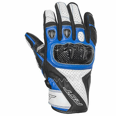RST Stunt 3 III Leather Riding Motorcycle Gloves – CE Approved – Blue