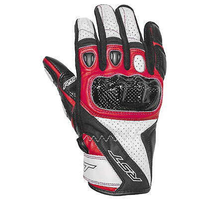 RST Stunt 3 III Leather Riding Motorcycle Gloves – CE Approved – Red
