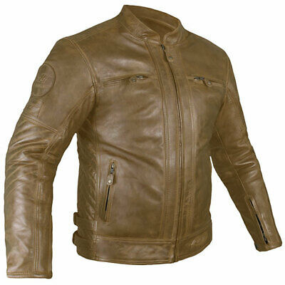 RST IOM TT Isle Of Man Motorcycle Classic Retro 2 CE Leather Jacket Brown