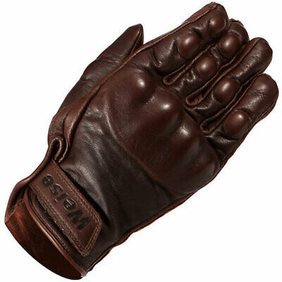 Weise Victory Short Leather Motorcycle Motorbike Gloves – Brown