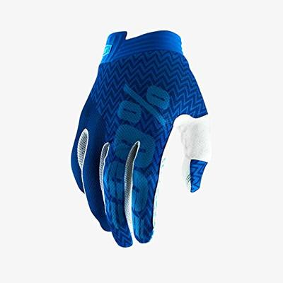 100% Men's iTrack Glove, Blue/Navy, X-Large