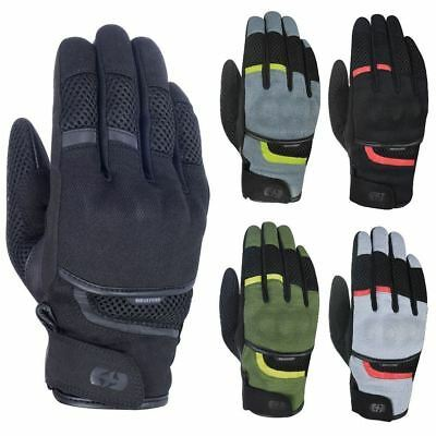 Oxford Brisbane Air Motorcycle Armoured Summer Gloves with Visor Wipe CE