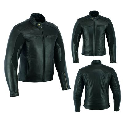 Men Motorcycle Leather Jacket Motorbike Sports Waterproof Rider Jacket Black New