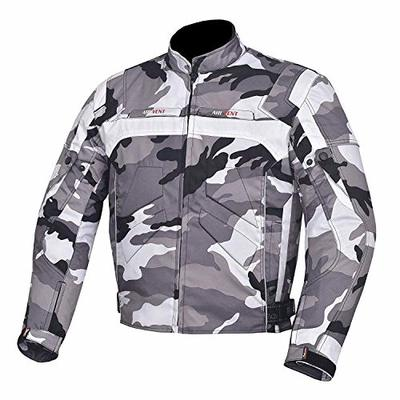 NORMAN Camouflage Men's Jacket Motorcycle Motorbike Waterproof Textile Cordura with CE Armoured (M)