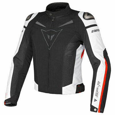 Dainese Super Speed Motorcycle Motorbike Textile Jacket Black / White / Red