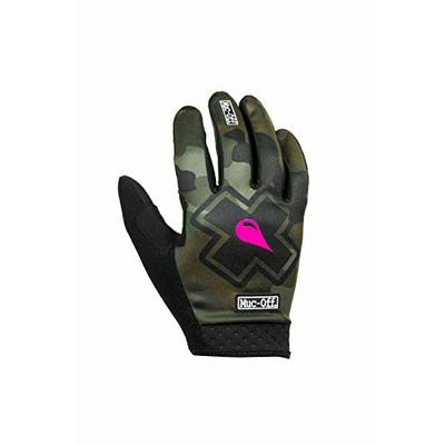 Muc-Off Camo MTB Gloves, Extra Large – Premium, Handmade Slip-On Gloves For Bike Riding – Breathable, Touch-Screen Compatible Material