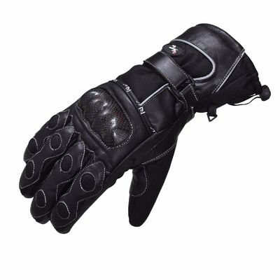 Winter Leather Waterproof Thermal Motorcycle Motorbike Leather Gloves Cordura