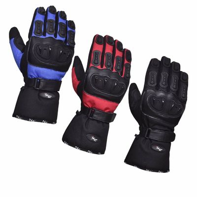 Waterproof Protective Gloves Motorcycle Motorbike Gloves Polar Force Leather