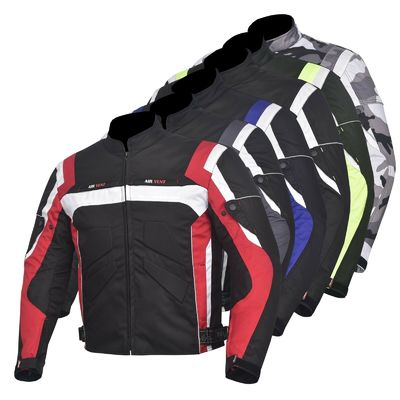 Men's Jacket Motorcycle Motorbike Waterproof Textile Cordura With CE Armoured