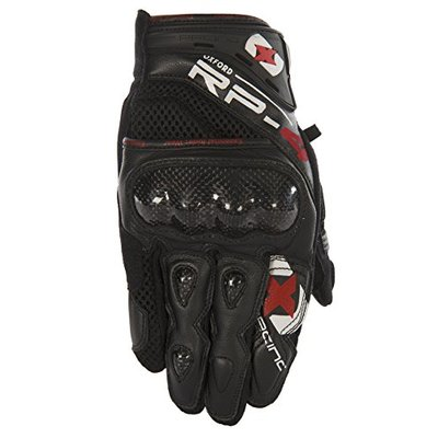 GM203M – Oxford RP-4 Leather Mesh Short Motorcycle Gloves M Tech Black